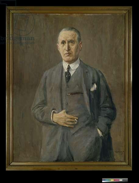 Portrait of Kommerzienrat Albert Dzialoszynski, 1914 (oil on canvas)