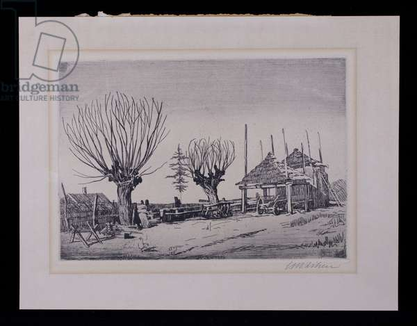 Landscape in Galicia II, 1921 (etching, ink on paper)