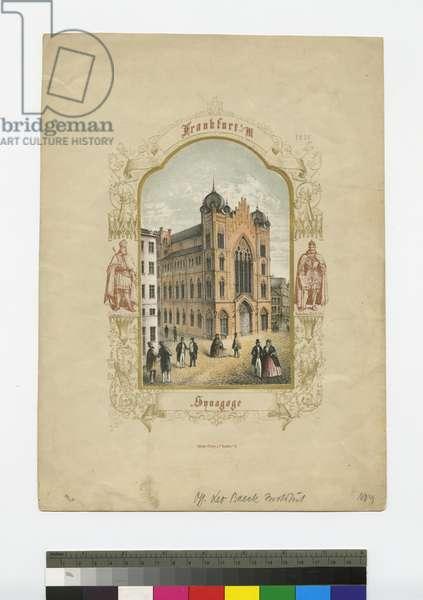 Frankfurt, Synagogue, 1851 (ink on paper)