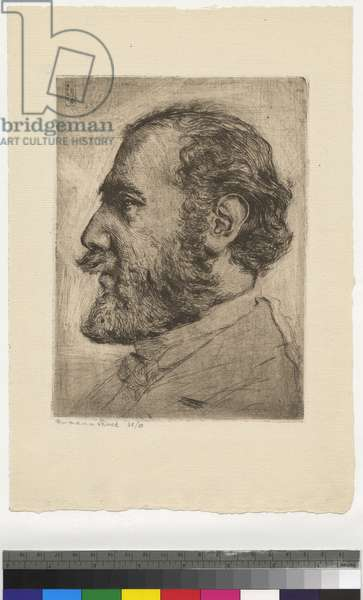 Portrait of Alfred Kerr, 1905 (etching, ink on paper)