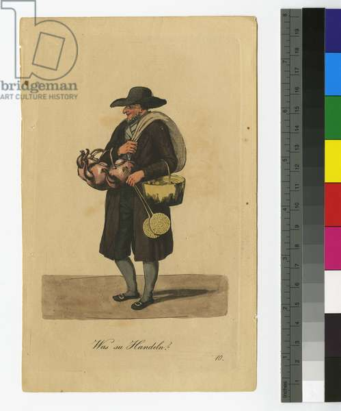 Anything to Trade? 1808 (etching & aquatint, hand-tinted with w/c)