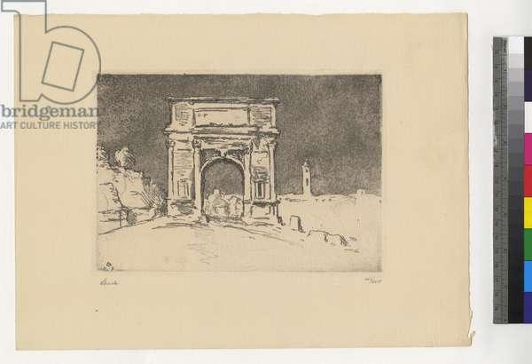 Im Norden [Florenz], 1923 (etching, ink on paper)