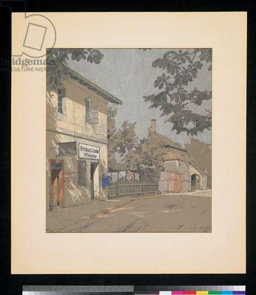 Breslauer Post Office, 1917 (pencil & w/c)