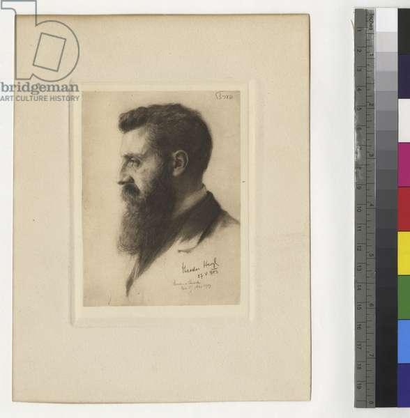 Portrait of Theodor Herzl, 1903 (ink on paper)