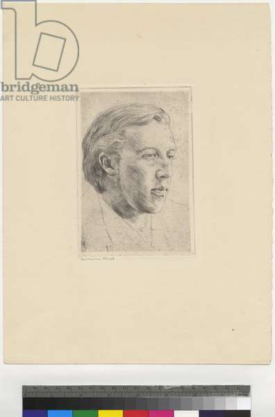 Portrait of Oscar Wilde, 1907 (etching, ink on paper)