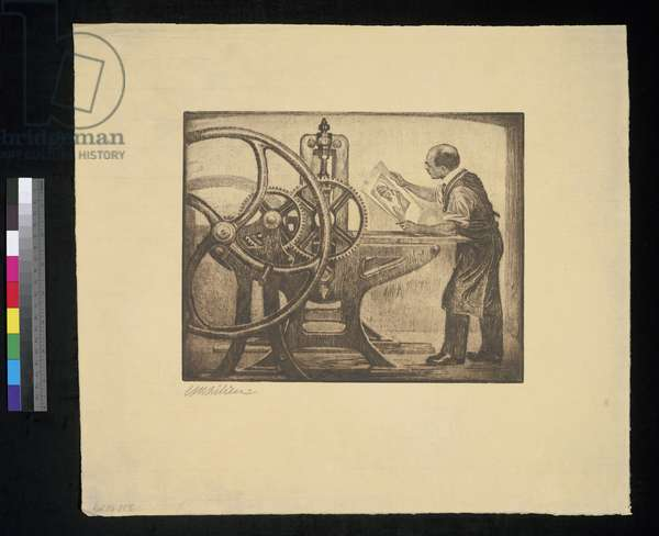 The Printing Press (ink on paper)