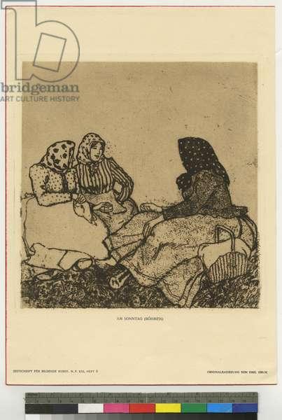 On a Sunday, Bohemia (etching & aquatint)