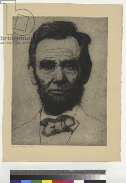 Abraham Lincoln, c.1912-13 (ink on paper)