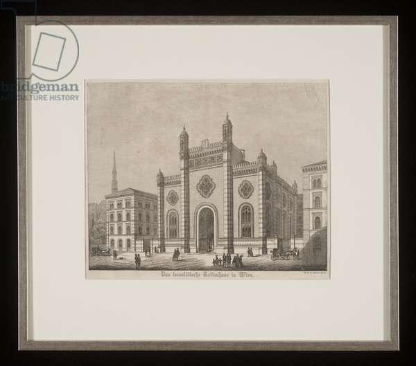 Das Israelitische Gotteshaus in Wien, 1870 (ink on paper)