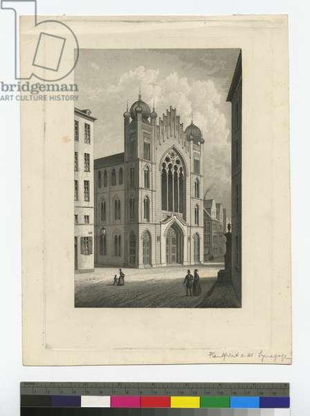 Frankfurt, Synagogue, c.1851 (litho)
