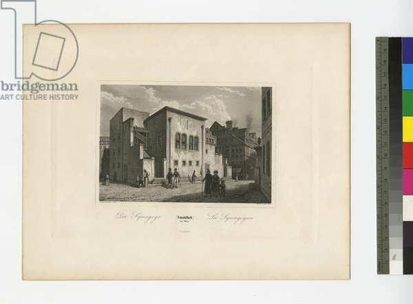 The Synagogue, Frankfurt am Main, c.1830 (engraving)