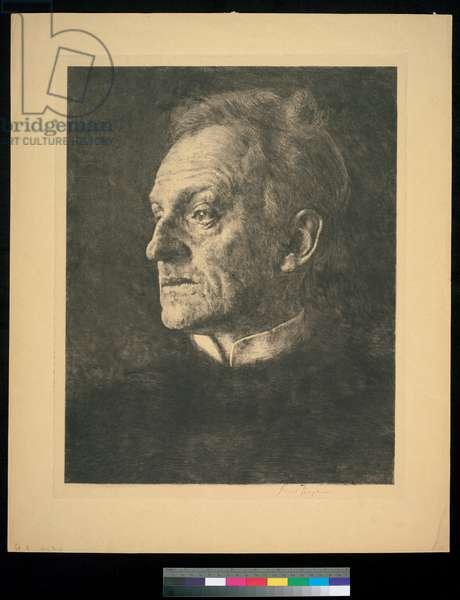 Portrait of Gerhart Hauptmann, 1904 (etching)