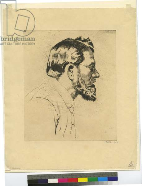 Self-portrait, 1910 (etching)