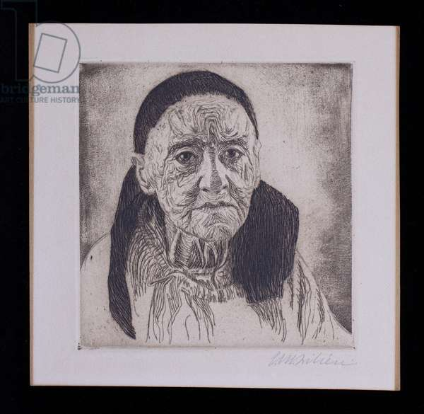 Grandmother, 1915 (etching, ink on paper)