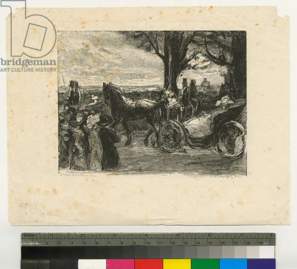 Coaches in the Park, c.1890-99 (engraving)