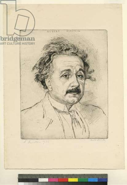 Portrait of Albert Einstein, 1923 (etching & drypoint)