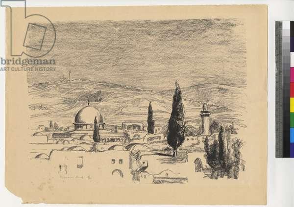 Jerusalem I, c. 1923-1944 (litho, ink on paper)