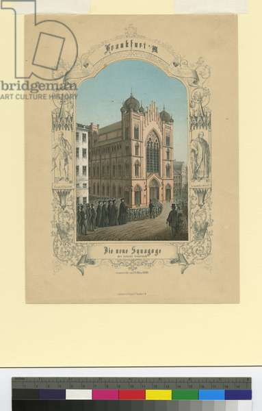 The New Synagogue of the Israelite community: dedicated March 23, 1860, c.1860 (colour litho)