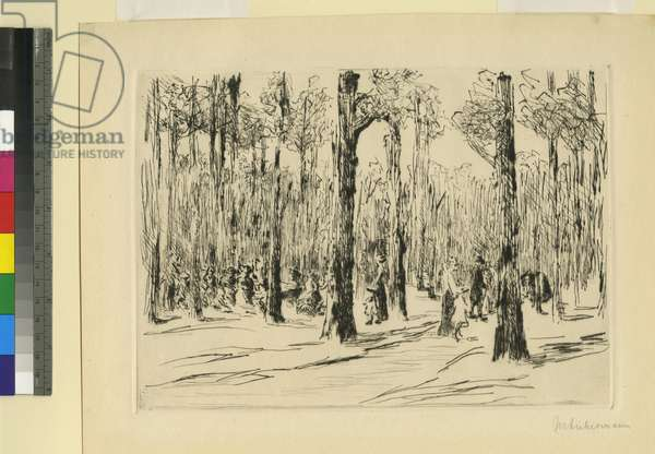 Tiergarten, 1914 (etching)