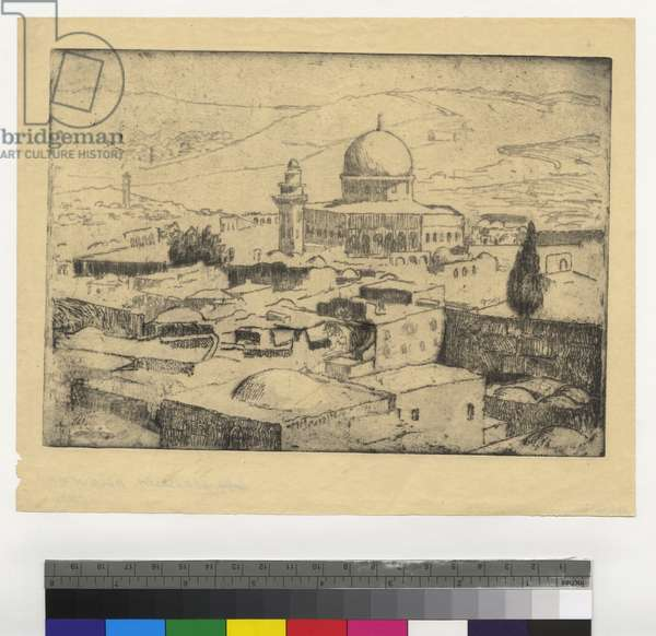 Jerusalem, Mosque of Omar, c.1923-44 (etching, ink on paper)