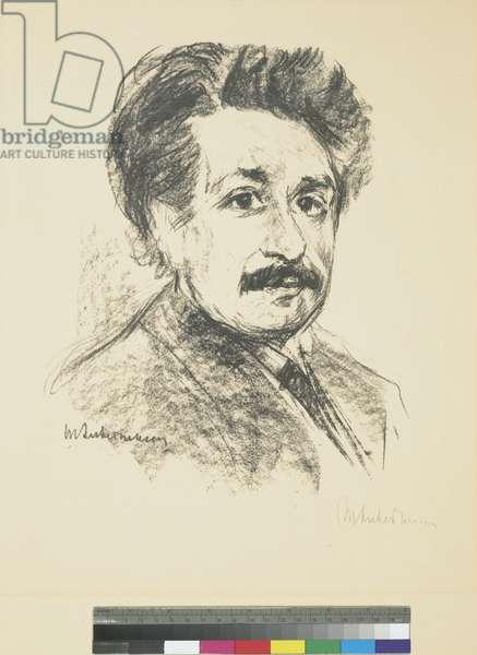 Portrait of Albert Einstein, 1925 (ink on paper)