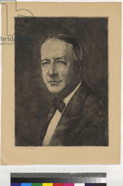 Portrait of Al Smith, 1928 (etching, ink on paper)