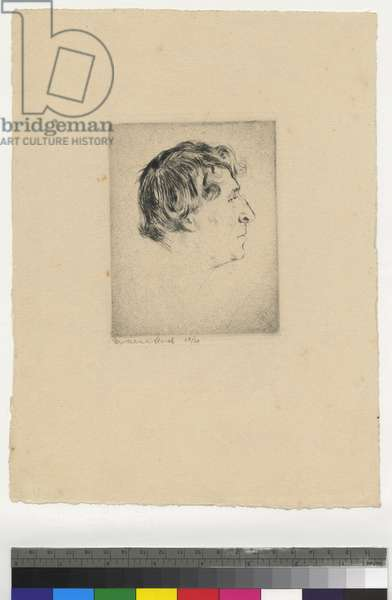Portrait of Marc Chagall, 1922 (etching, ink on paper)