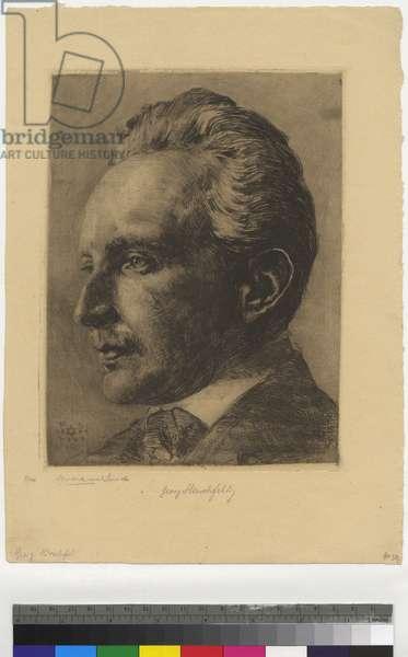 Portrait of Georg Hirschfeld, 1904 (etching, ink on paper)