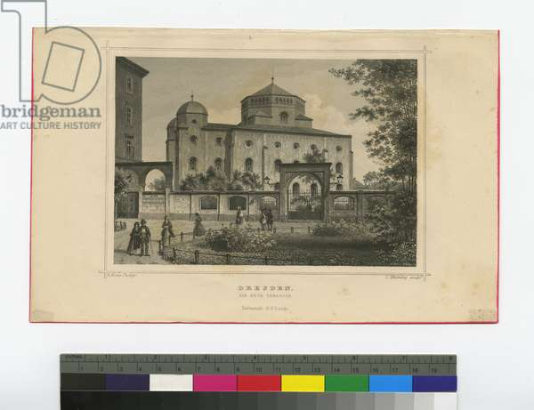 Dresden, the New Synagogue, c.1840-70 (engraving)