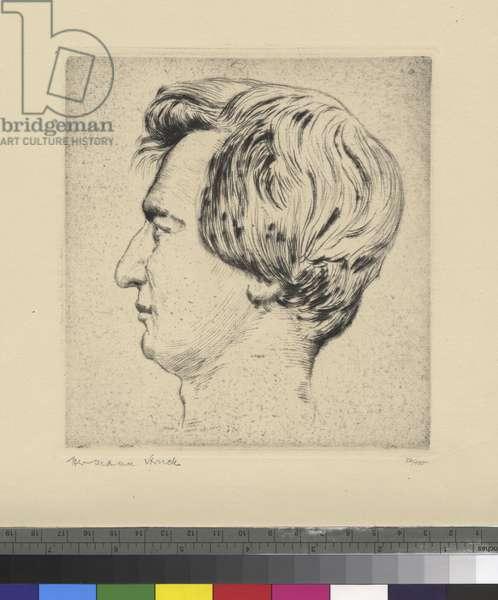 Portrait of Heinrich Heine, c.1900-44 (ink on paper)