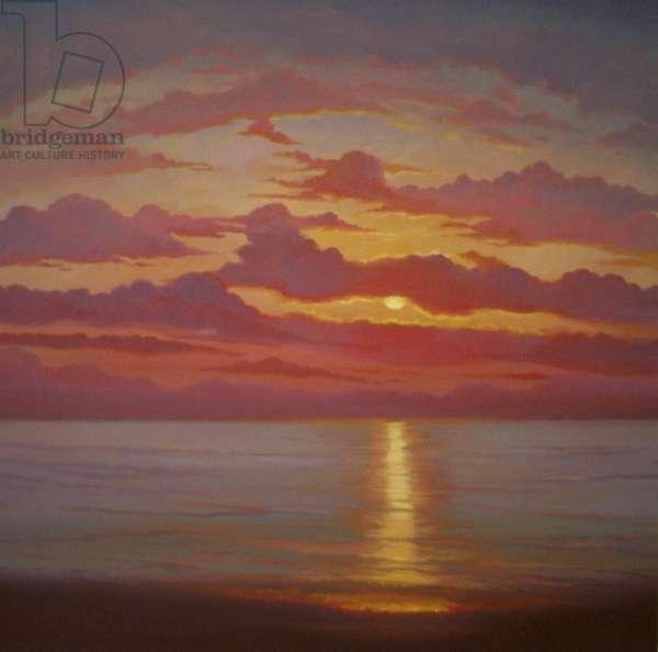 Northern Sea, 2005 (oil on canvas) Sunset seascape