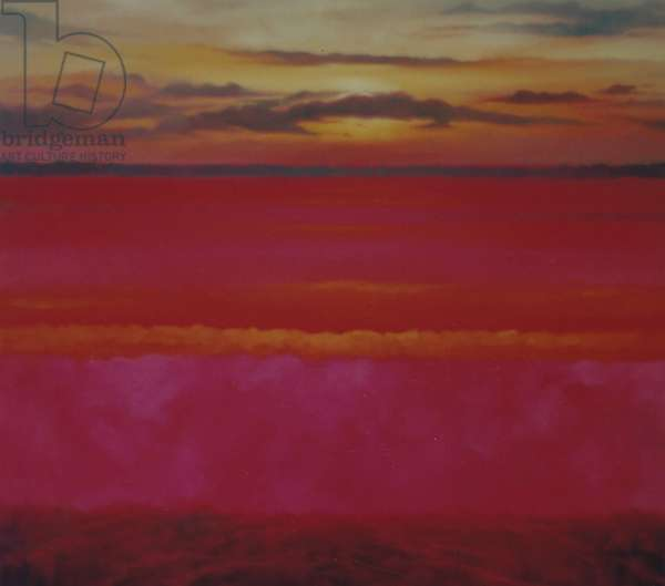 Glowing Sunrise, 2004 oil on canvas Sky and Pink Abstract Landscape