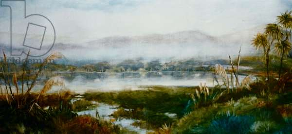 North Island, NZ, 2000, (oil on paper)