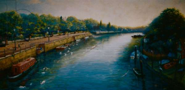 Old Twickenham Riverside, 2005 (oil on canvas)