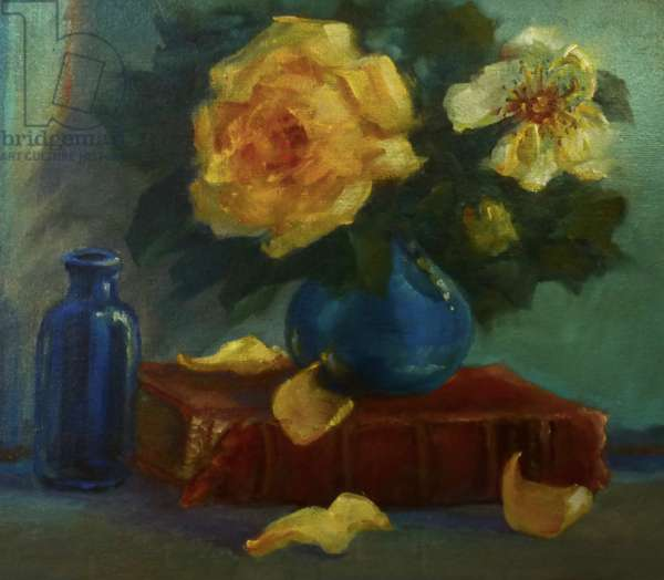 Yellow Roses, 2020, (oil on canvas)