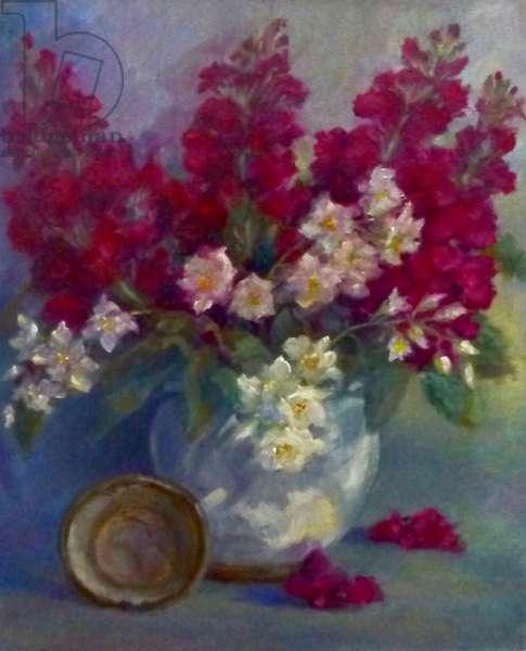 Stocks and Orange Blossom; 2020; (oil on canvas)