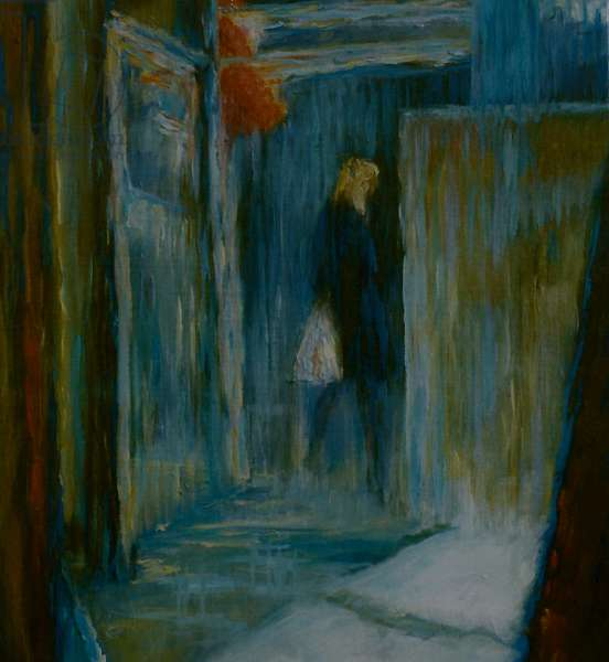 Passing Woman, 1998 (oil on paper)