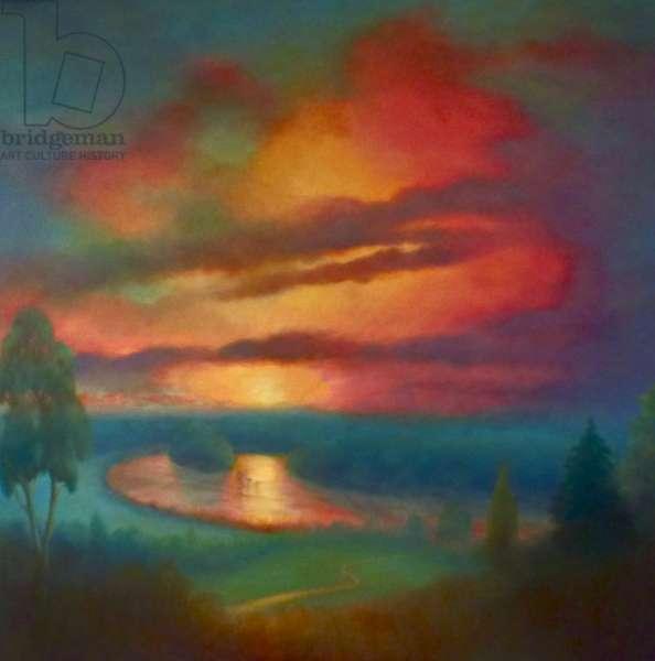 Richmond Sunglow, 2020, (oil on canvas)