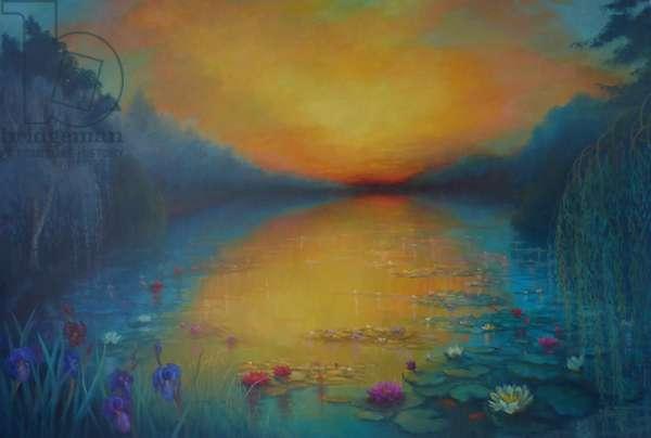 Golden Pond, 2018, (oil on canvas)