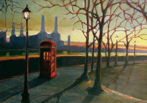 Ode to Sir Giles, 1998 (oil on panel)