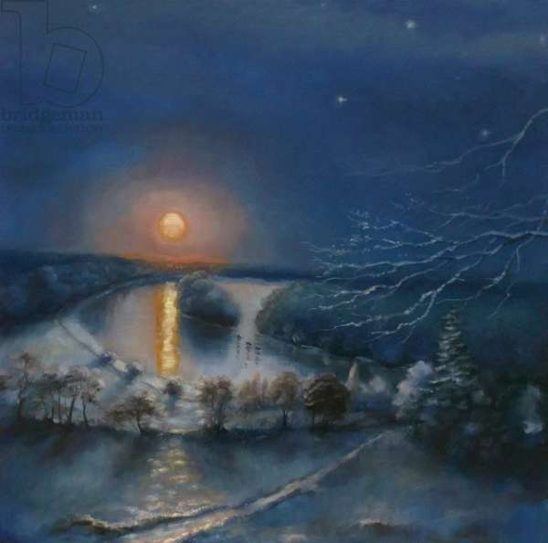 Frozen Blue 2011 (oil on linen) Landscape Winter