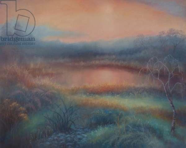 Autumn Mist, 2018, (oil on canvas)
