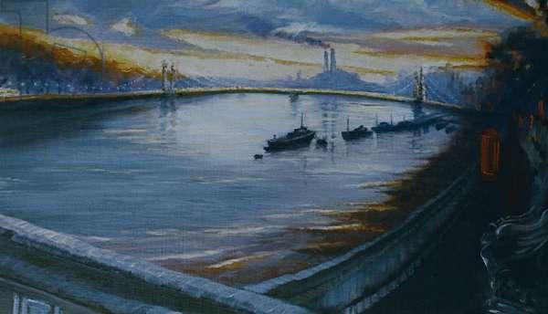 Albert Bridge, Chelsea, 2000 (oil on panel)