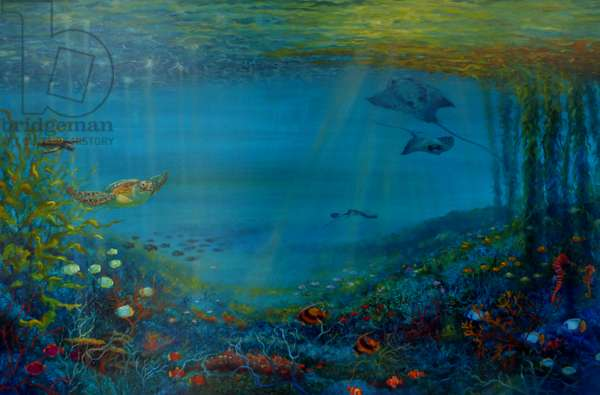 Coral Reef, 2018, (oil on canvas)