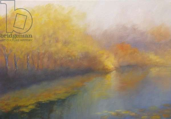River Gold 2012 (oil on canvas) Landscape