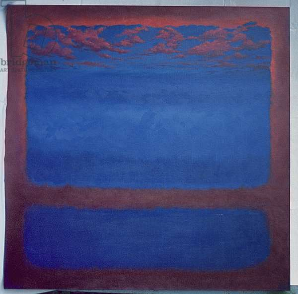 Ultramarine, 2001 (oil on canvas) Abstract blue