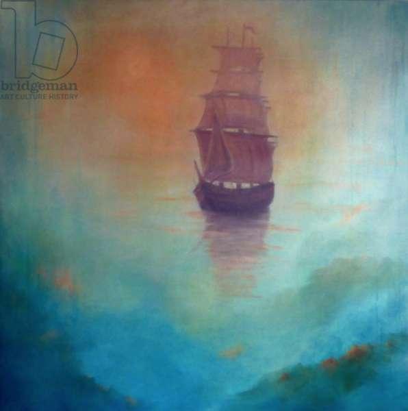 Fata Morgana (ghost ship), 2020 (oil on canvas)