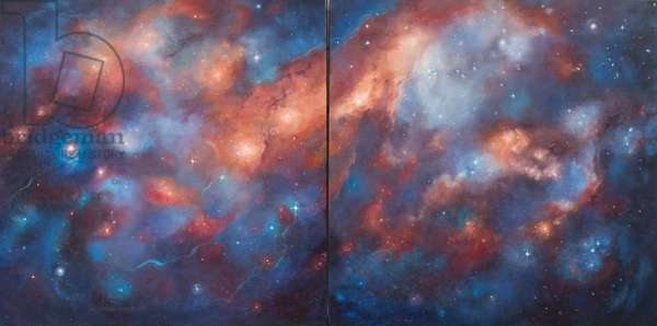 Cosmos I & II, 2017, (oil on canvas)
