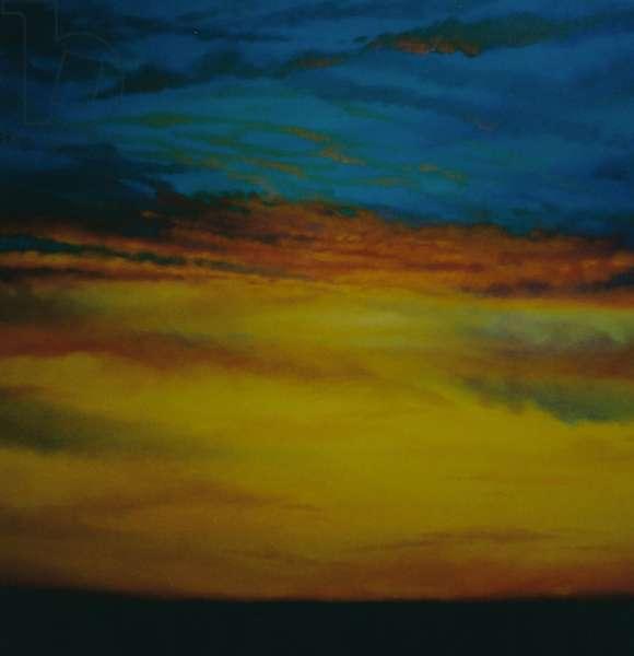 Golden Sky, 2003 (oil on canvas) Sunset