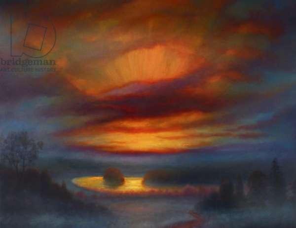 Richmond Sunset, 2020, (oil on canvas)